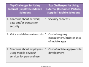 2013 top mobile challenges